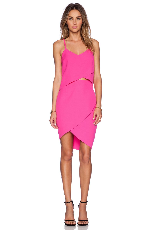 ELLIATT The Shot Tulip Dress in Fuschia Pink   REVOLVE
