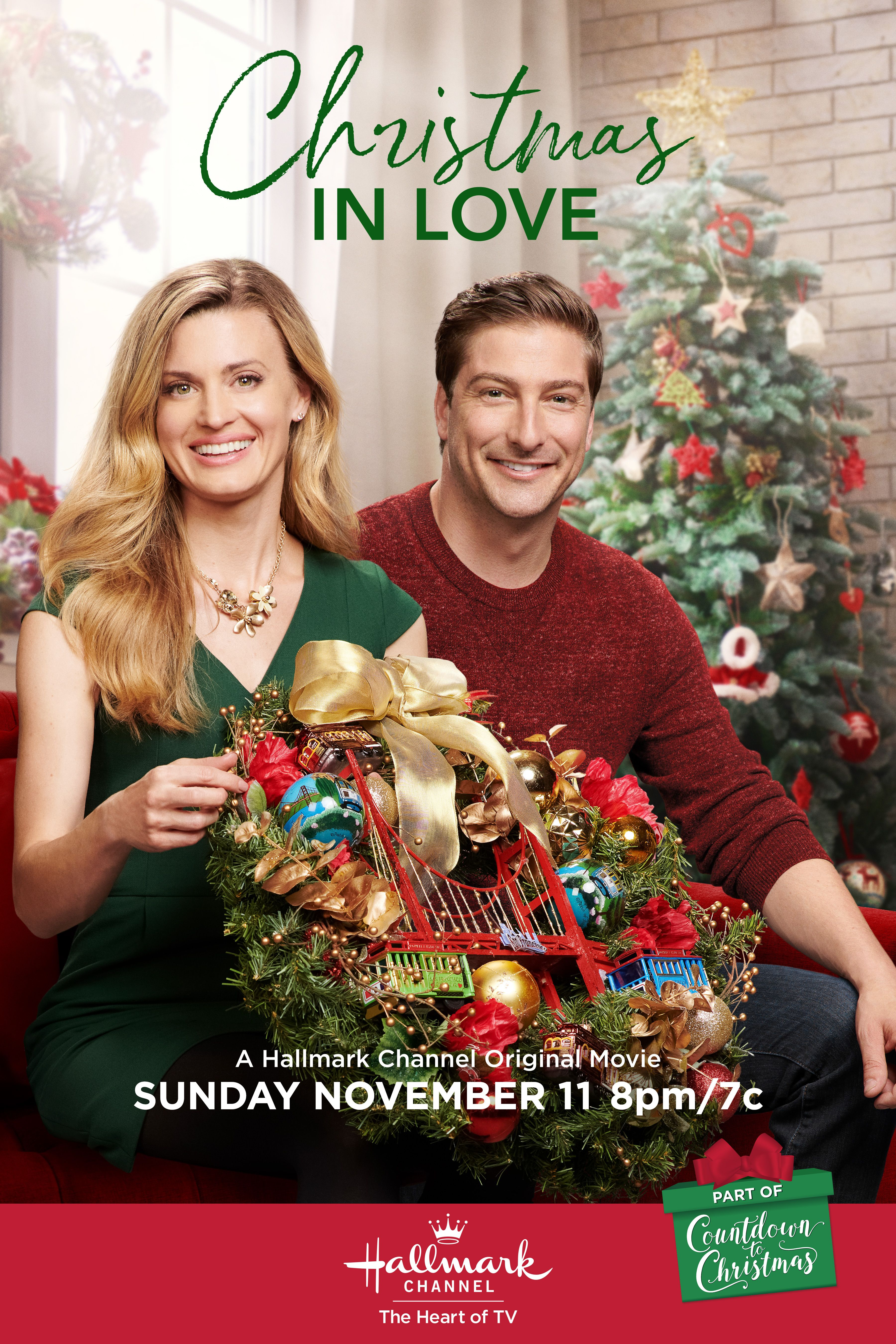 "Christmas In Love 2020 Daniel Lissing and Brooke D'Orsay star in ""Christmas in Love"