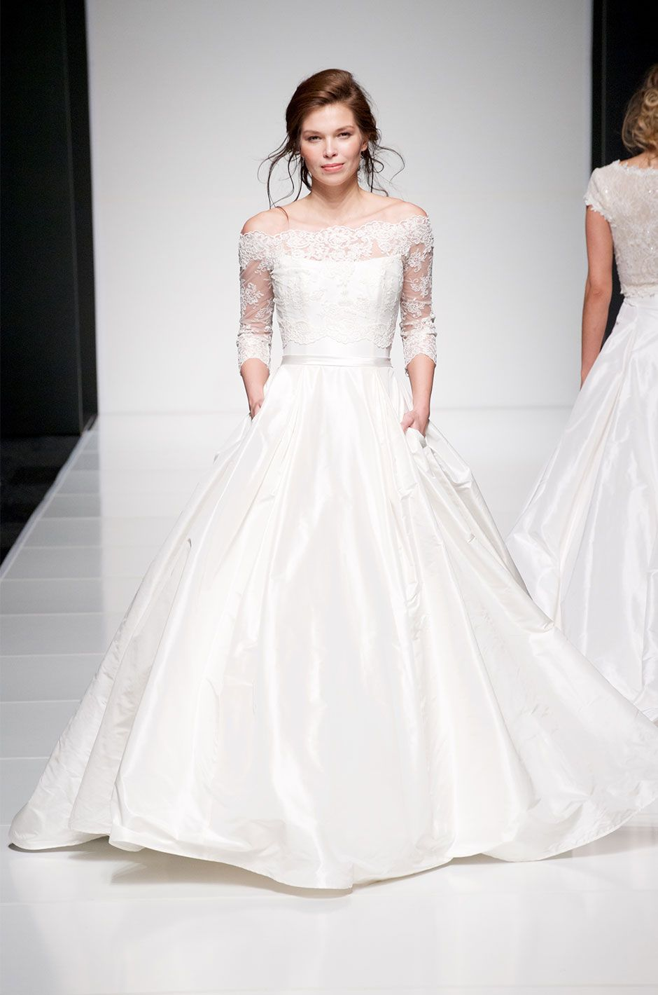 Add on sleeves for wedding dresses  Sassi Holford Ellie   Collections  Pinterest  Bridal