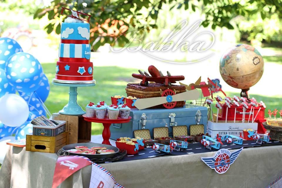 Little Wish Parties Airplane Third Birthday Party https