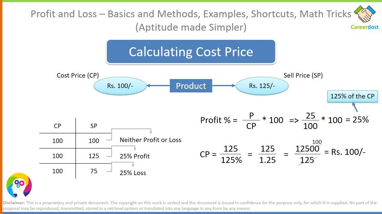 Profit And Loss Basics And Methods Examples Math Tricks Math Tricks Math Aptitude [ 720 x 1280 Pixel ]