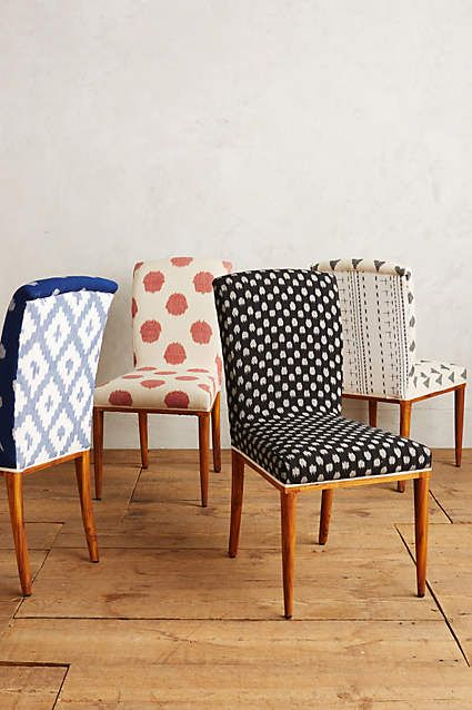 fun dining room chairs | Elza Ikat Dining Chair | Upholstered chairs, Kitchen ...