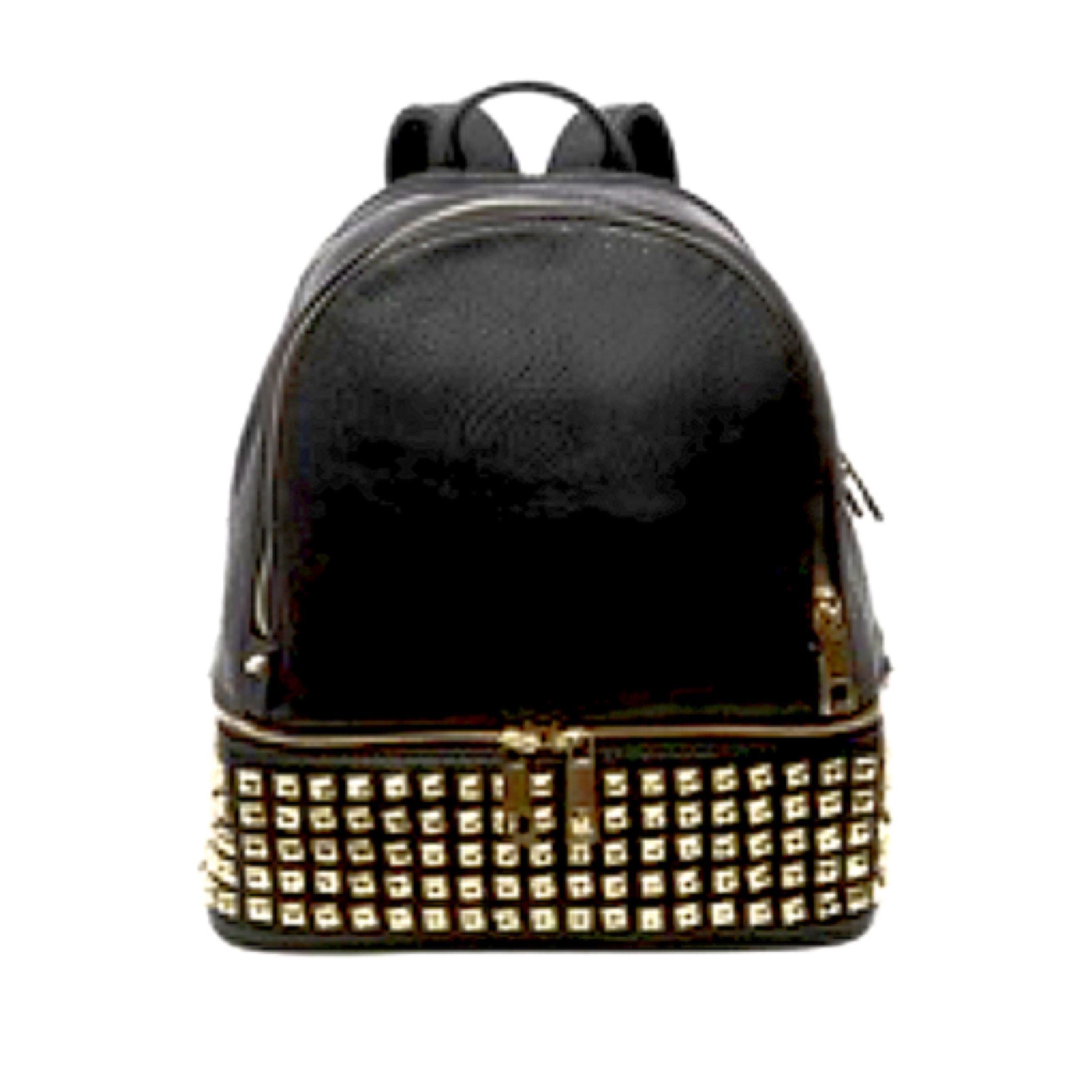 bb5da758c673 Knockoff Michael Kors Rhea Backpack- Black Studded- Groupon.com $14.97