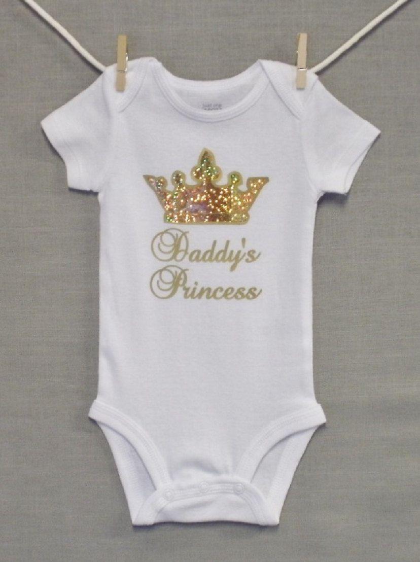 Daddy's Princess,New Dad,Newborn Baby Girl,Baby Girl Clothes,Baby Onesie
