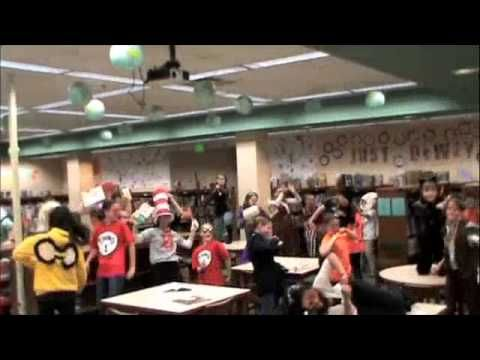 Harlem Shake Read Across America At University School Bloomington Indiana With Images Harlem Shake Library Displays America