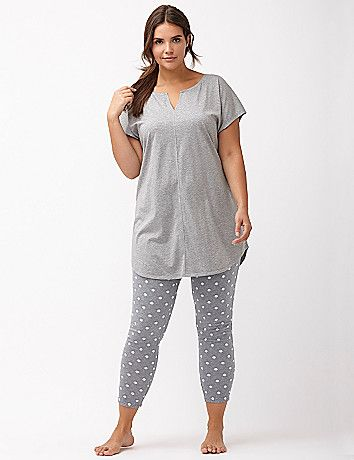 e8da471808e ... playful spin on our soft cotton-blend PJ set. The matching tunic  flatters with a notch neckline