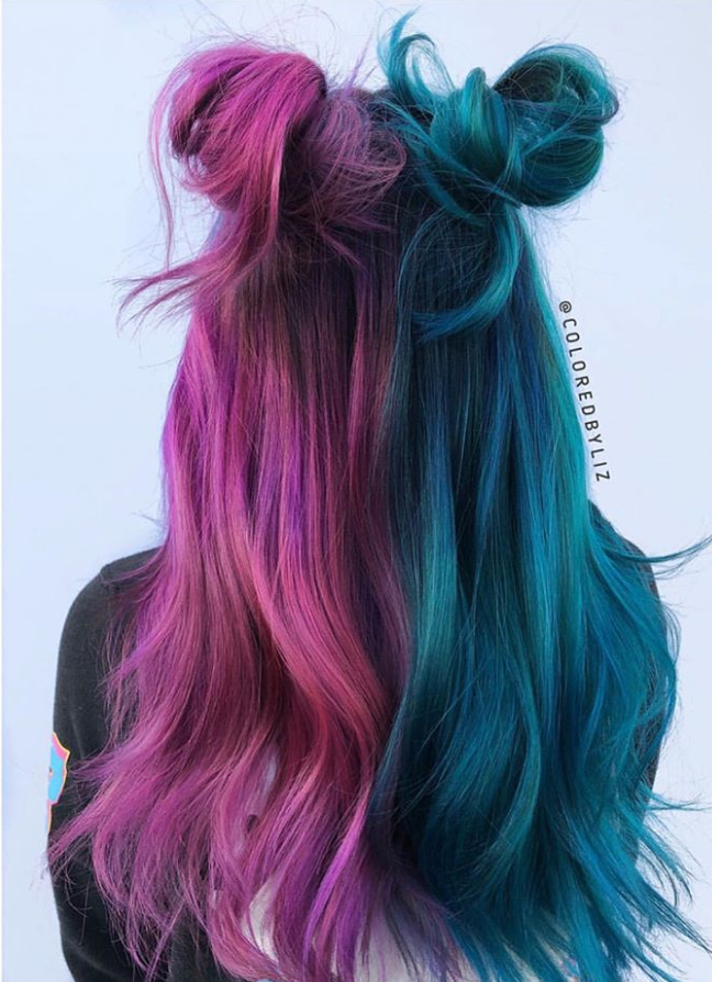 42 Chic Blue Highlights Hair Color And Hairstyle Ideas For Short Long Hair Latest Fashion Trends For Woman Hair Styles Aesthetic Hair Long Hair Styles