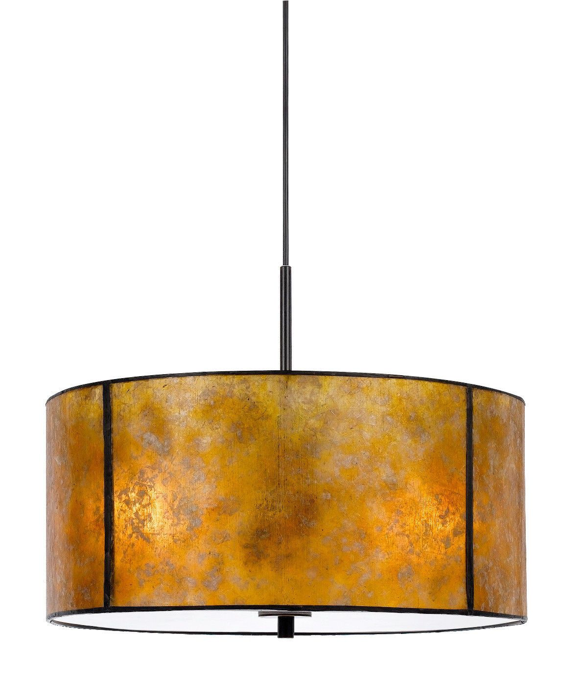 Amber mica pendant light stocked in 18 width custom sizes and