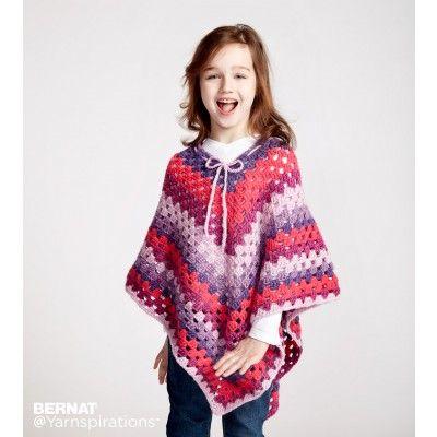 Free Easy Crochet Poncho Pattern | Crocheting | Pinterest | Crochet ...