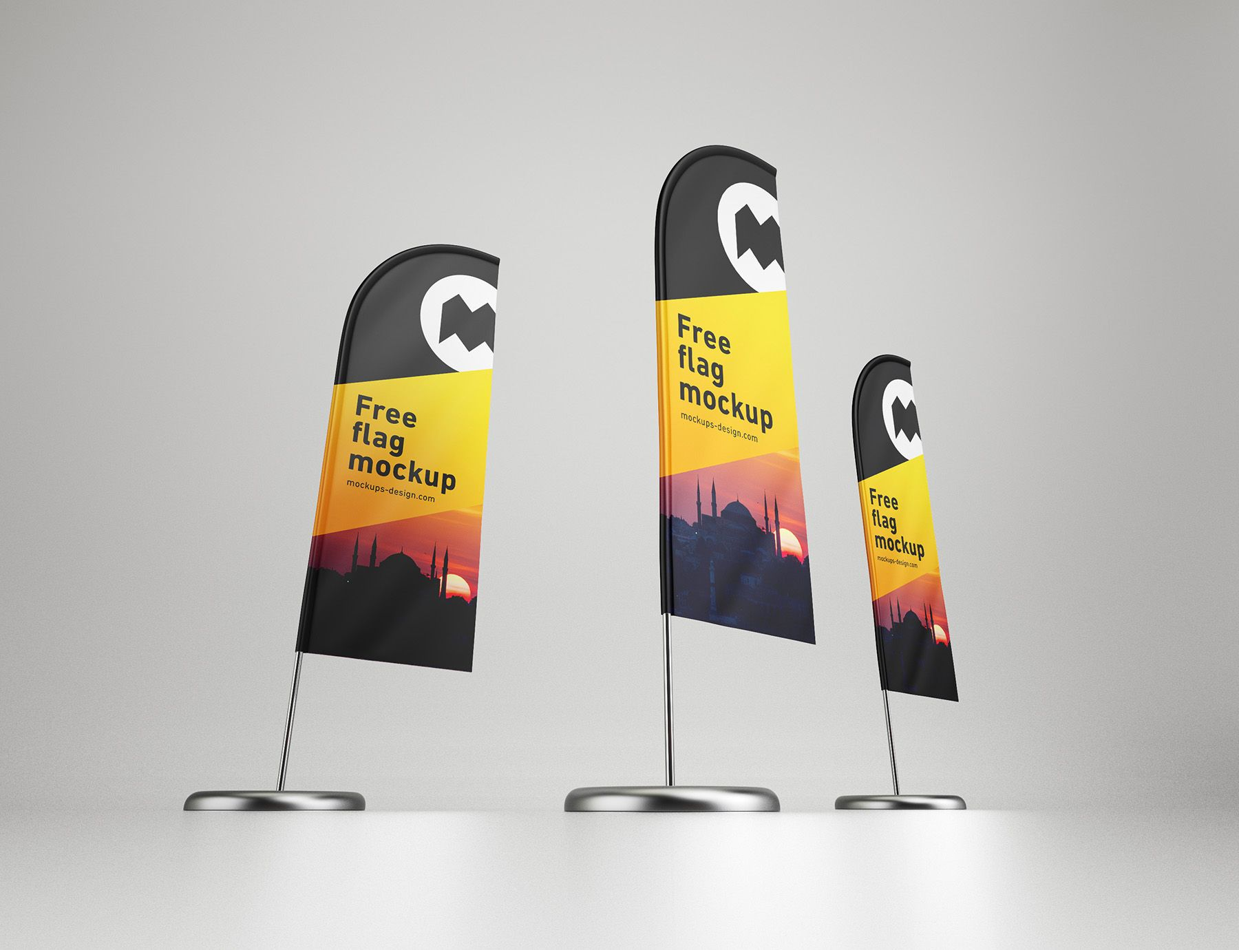 Free Feather Flag Mockup In Three Psd Files Easy To Use And Edit Feather Flags Free Mockup Flag