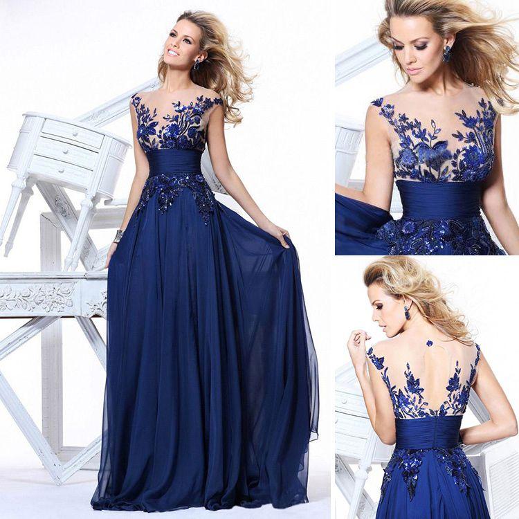 Vestido de madrinha de casamento azul bic