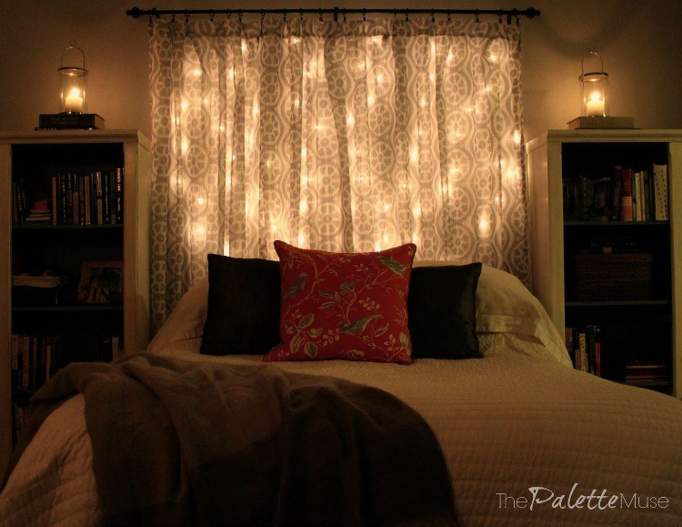 Cool best creative diy headboard ideas with lights for your