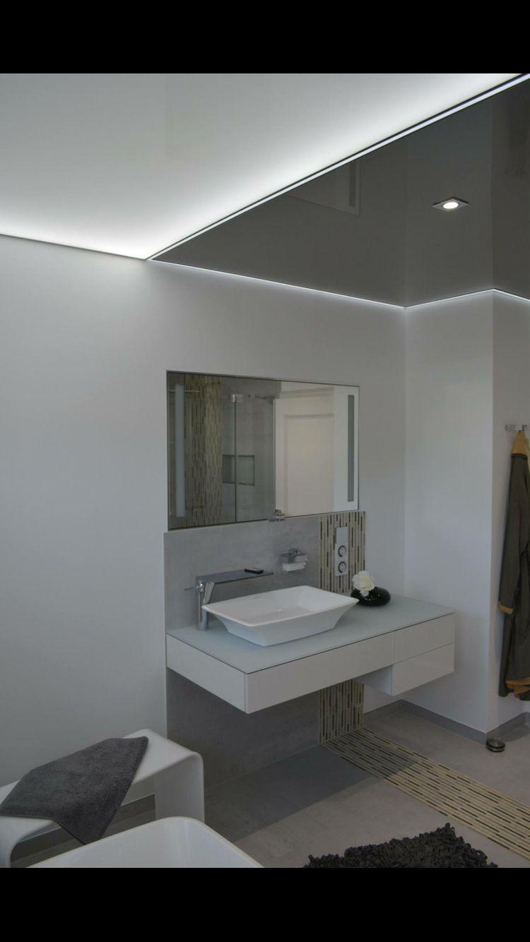 Graue Lack Spanndecke Led Licht Leiste Transparente Lack Licht Spanndecke Intrigierte Led Innen Beleuchtung Di Spanndecken Wohn Design Wohnen