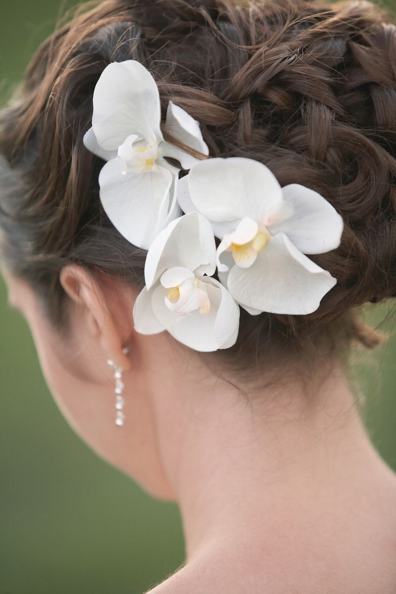 Love Love Hoping To Have Blue Orchids Or White Flowers In My Hair Wedding Hairstyles Photos Wedding Hair Accessories Wedding Hairstyles