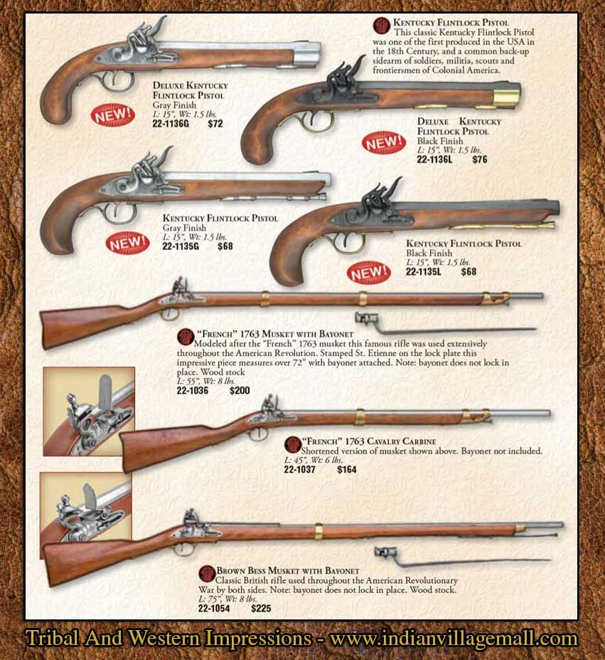 Museum Quality Flintlock Colonial Pistols Muskets And Rifle - Gun museums in usa