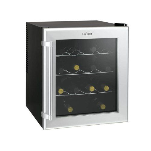 Culinair Aw160s Thermoelectric 16-Bottle Wine Cooler, Silver and Black ** This is an Amazon Affiliate link. To view further for this item, visit the image link.
