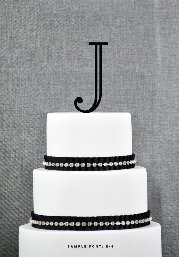 Personalized J Initial Wedding Cake Toppers J Cake Topper Letter