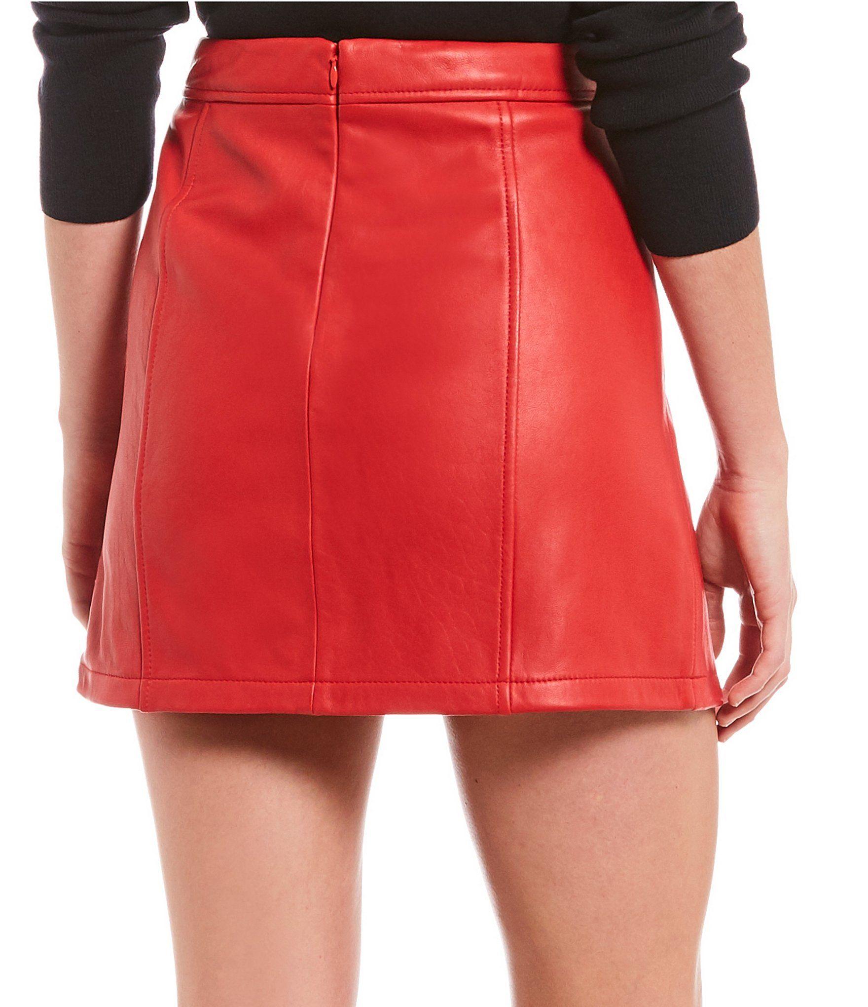 8fe82a4cdb94 Gianni Bini Rachel Genuine Leather Mini Skirt #Dillards | 2019 ...