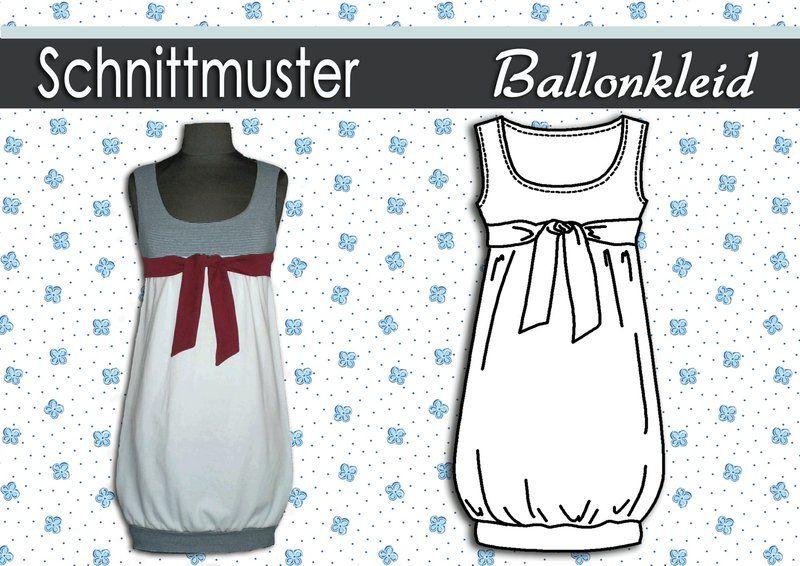 Schnittmuster & Anleitung Ballonkleid Gr:36-44 | Ballonkleid ...