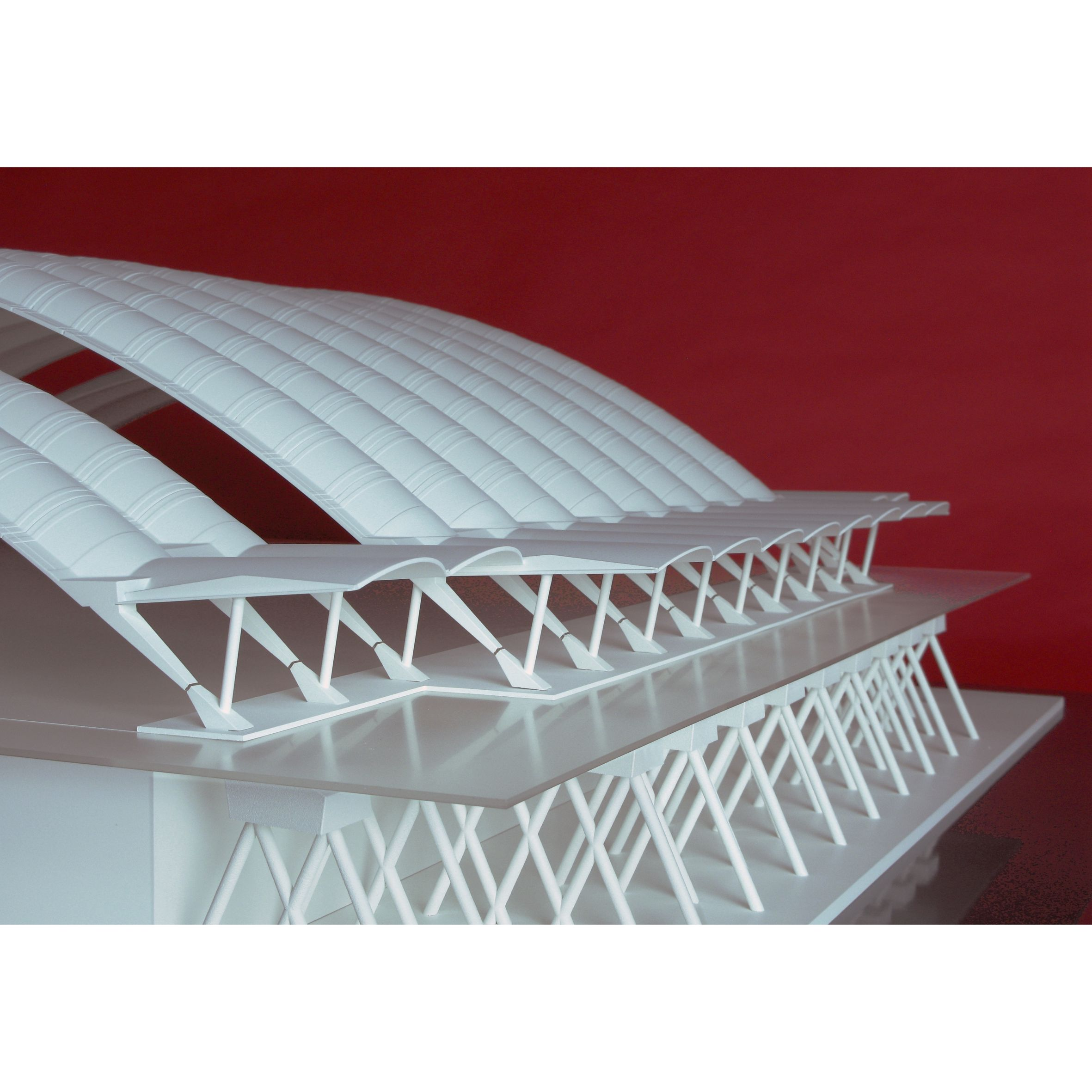 Spectacular HCH MODEL Maqueta de la cubierta de arcos onda y cimentaci n del Polideportivo de Oviedo