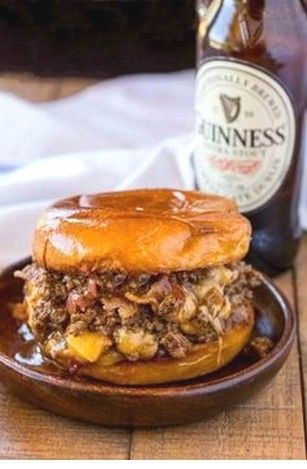Bacon, Beer And Cheese Sloppy Joes | Easy Beef Recipes Ideas images