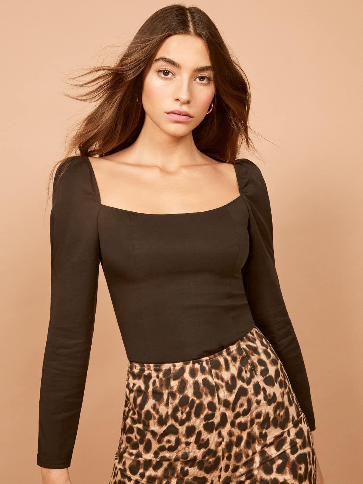 Alexa Top Leather look dress, Leopard print bodycon