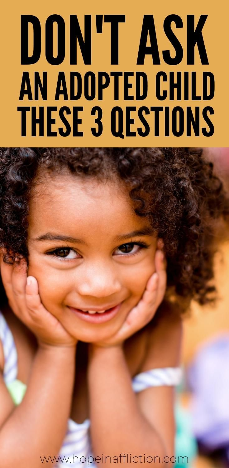 It is understandable that you may have questions when you see an adoptive family. But these 3 questions shouldn't be asked of the child. . #adoption #hopeinaffliction #fostercare #family #adopt #adoptionrocks