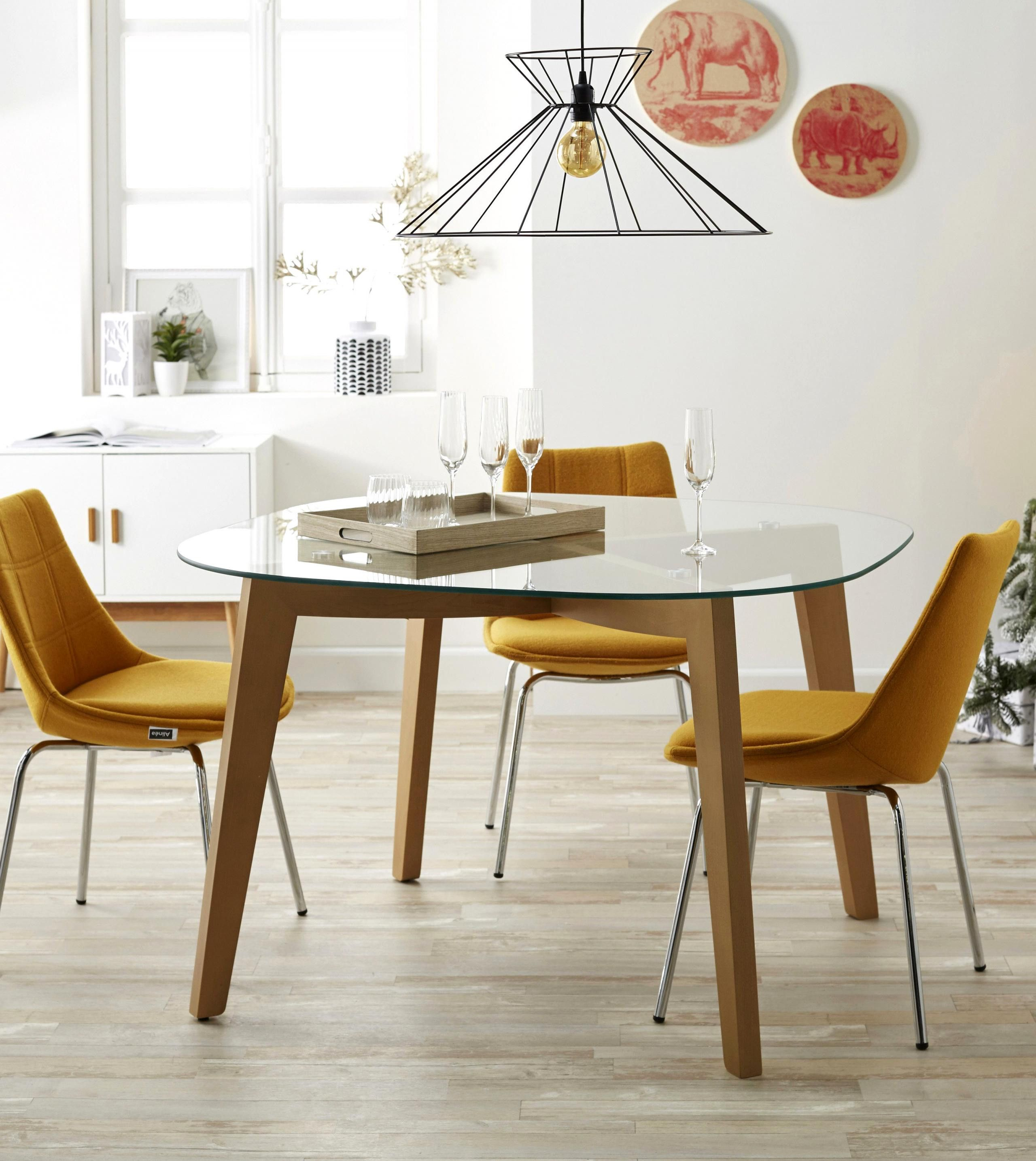 Inspirational Le Bon Coin Ajaccio Dining Furniture Round Glass Table Kitchen Design