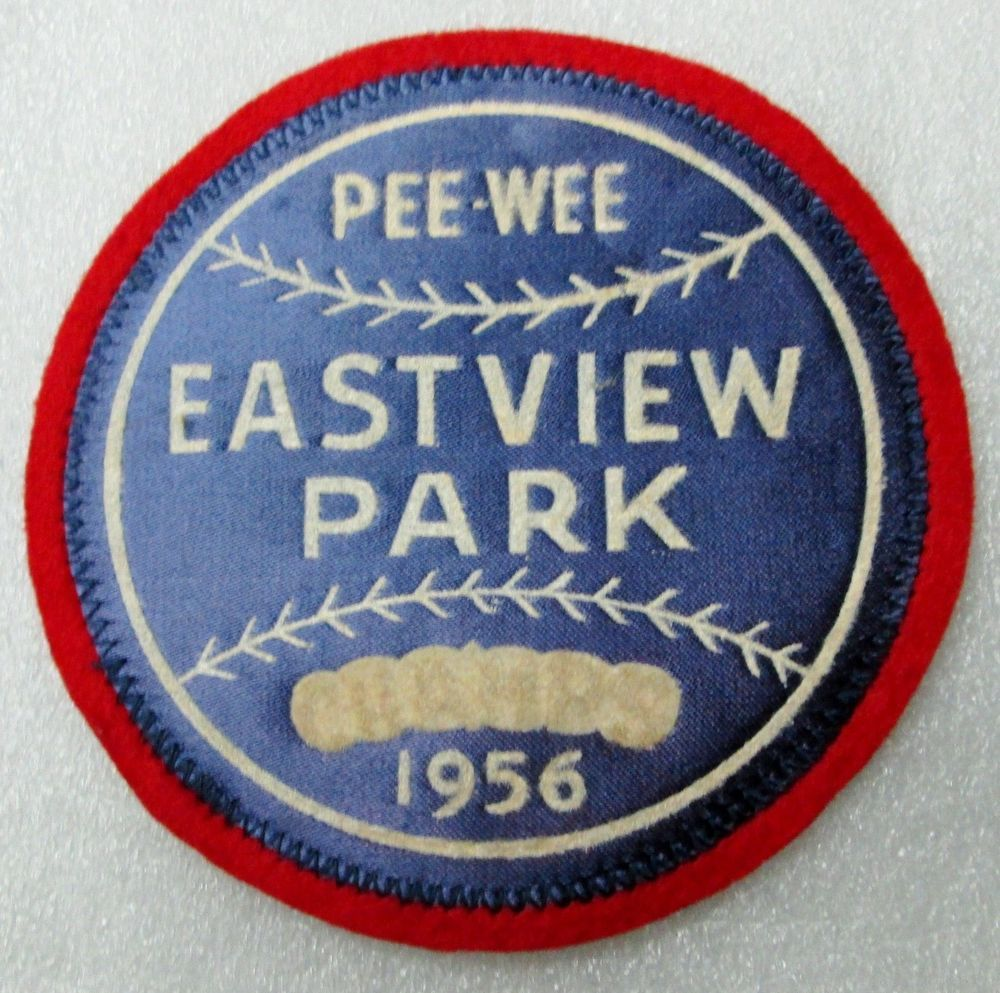 1956 EASTVIEW PARK PEE WEE BASEBALL CHAMPS PATCH! APX. 4 1