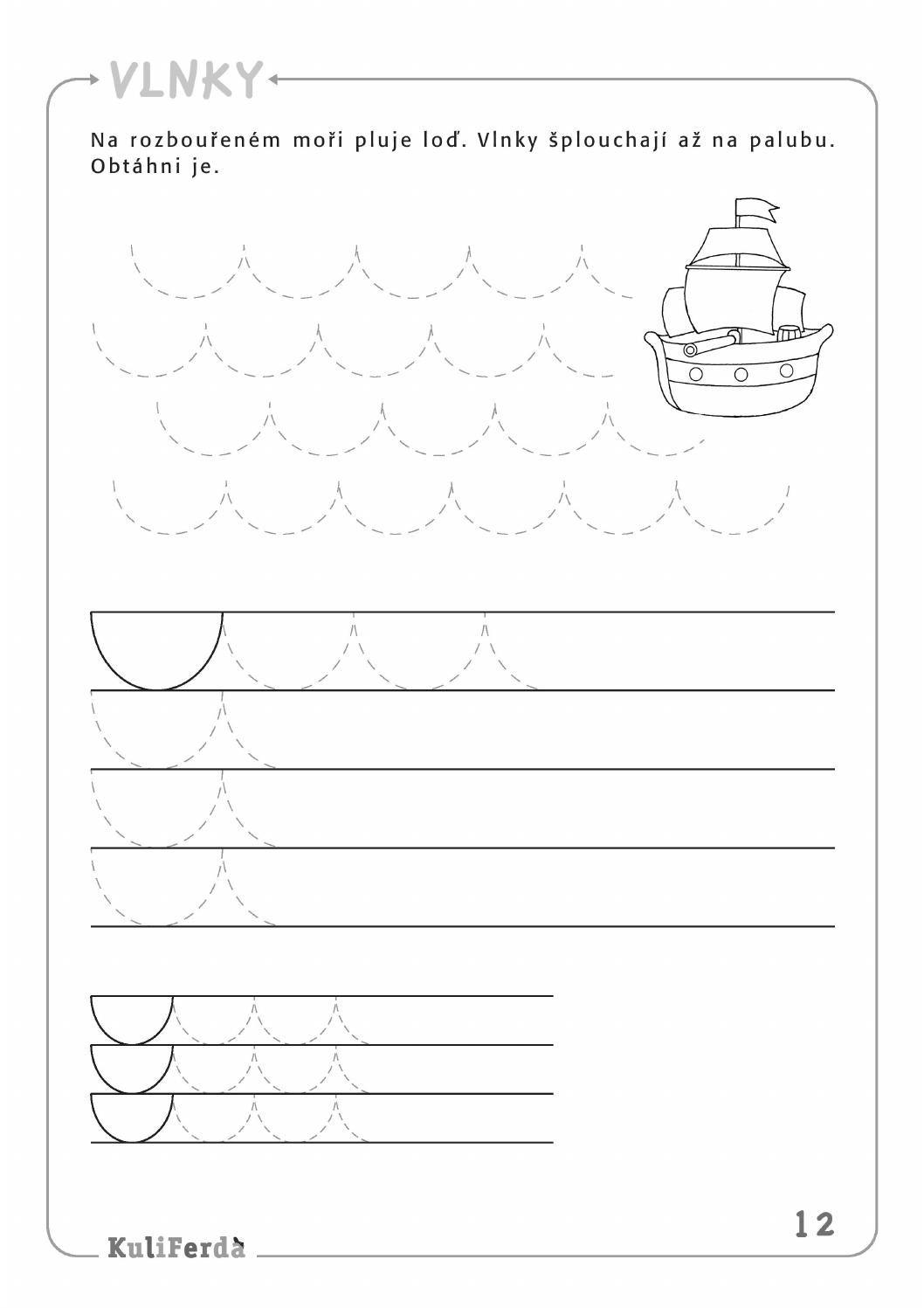 Ukazkove Strany Kuliferda Ms Grafomotorika Tracing Worksheets Preschool Handwriting Activities Middle School Science Experiments [ 1497 x 1058 Pixel ]