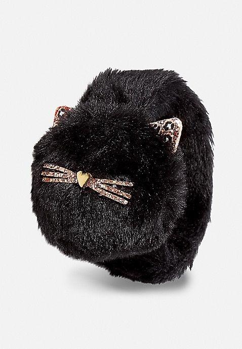 Photo of Black Cat Pompom Slap Bracelet