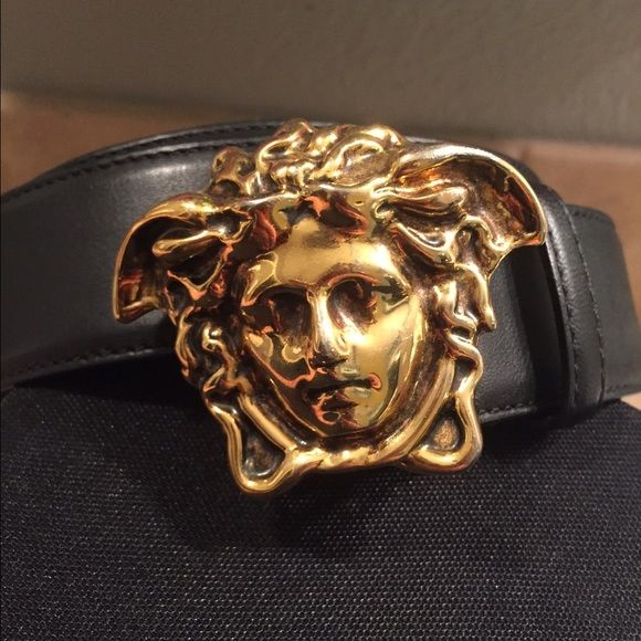 Gallery For > Versace Belt Medusa Head