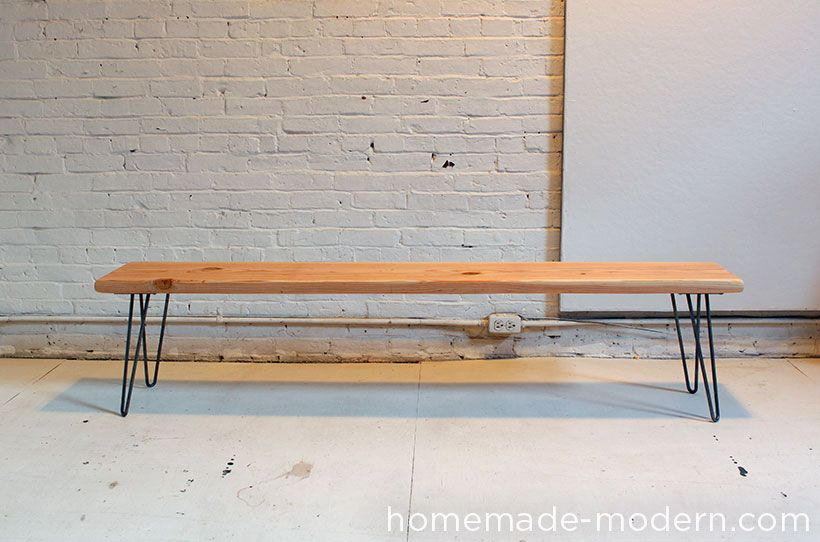 Homemade Modern Diy Wood And Wool Bench Options Diy Wood Bench Modern Diy Cheap Benches