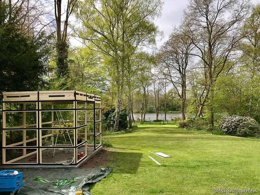 Design Gartenhaus gart drei auf traumhaften Grundstück am
