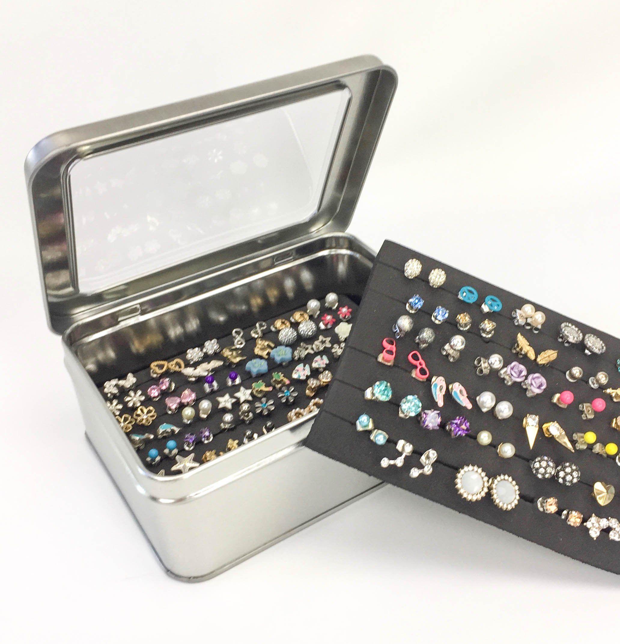 Tin Jewelry Box Extra Insert Earring Storage