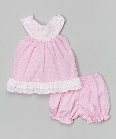Love this Pink Polka Dot Tunic & Bloomers - Infant on #zulily! #zulilyfinds