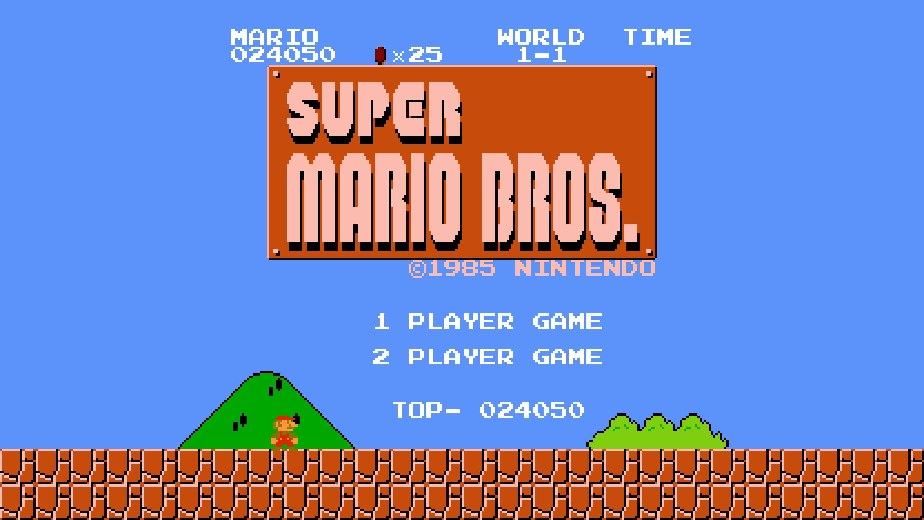 Super Mario Bros 8 Bit Super Mario Retro Games Video Games 4k