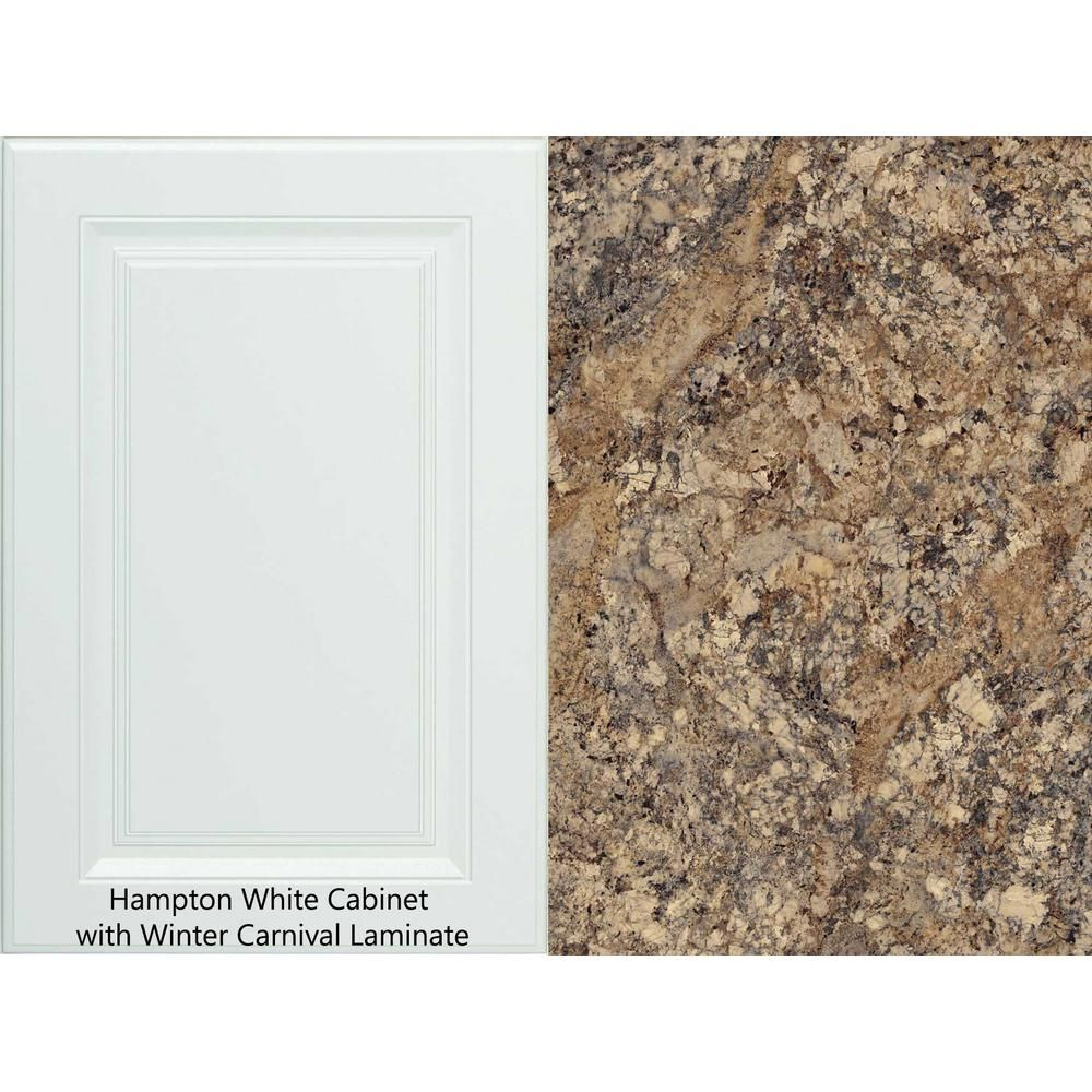 Hampton Bay 8 Ft Laminate Countertop Kit With Right Miter In Winter Carnival Granite With Valencia Edge 12337kt08r1874 The Home Depot In 2020 Laminate Countertops Brown Granite Countertops Granite Countertops Colors