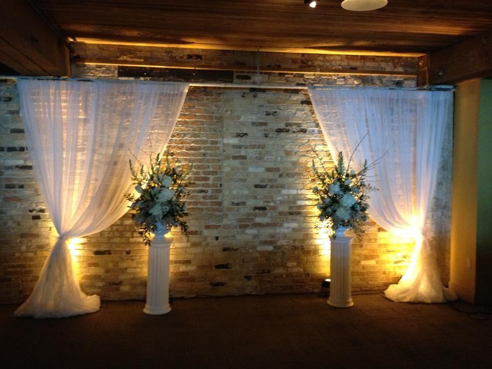 Wedding ceremony backdrop with warm white uplighting and drapery wedding ceremony backdrop with warm white uplighting and drapery junglespirit Choice Image