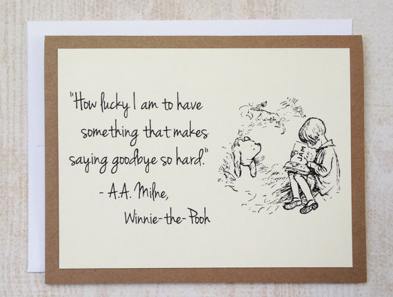 How Lucky I Am Winnie The Pooh Quote Classic Pooh And