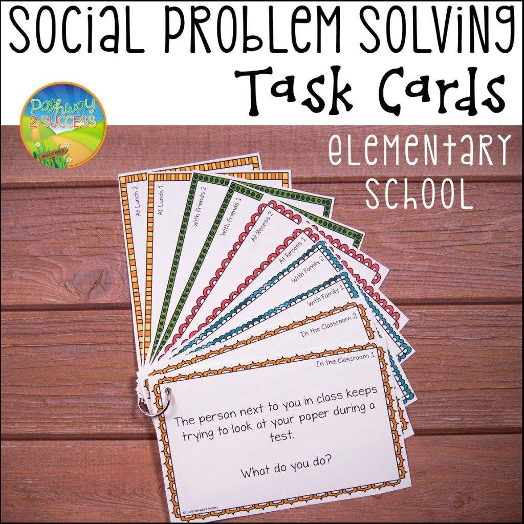 Social Problem Solving Task Cards With Images