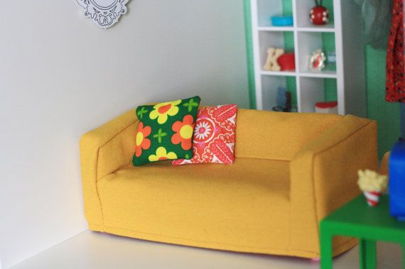 ikea doll furniture. Doll Sized Couch Cover For Ikea Huset By Paperdollproductions, $22.00 Furniture