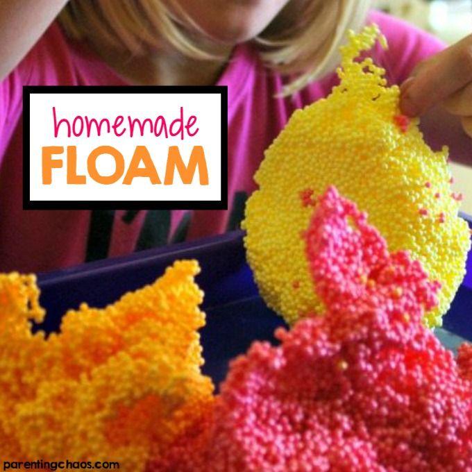 Diy Floam Recipe Diy Floam Homemade Moon Sand Activities For Kids