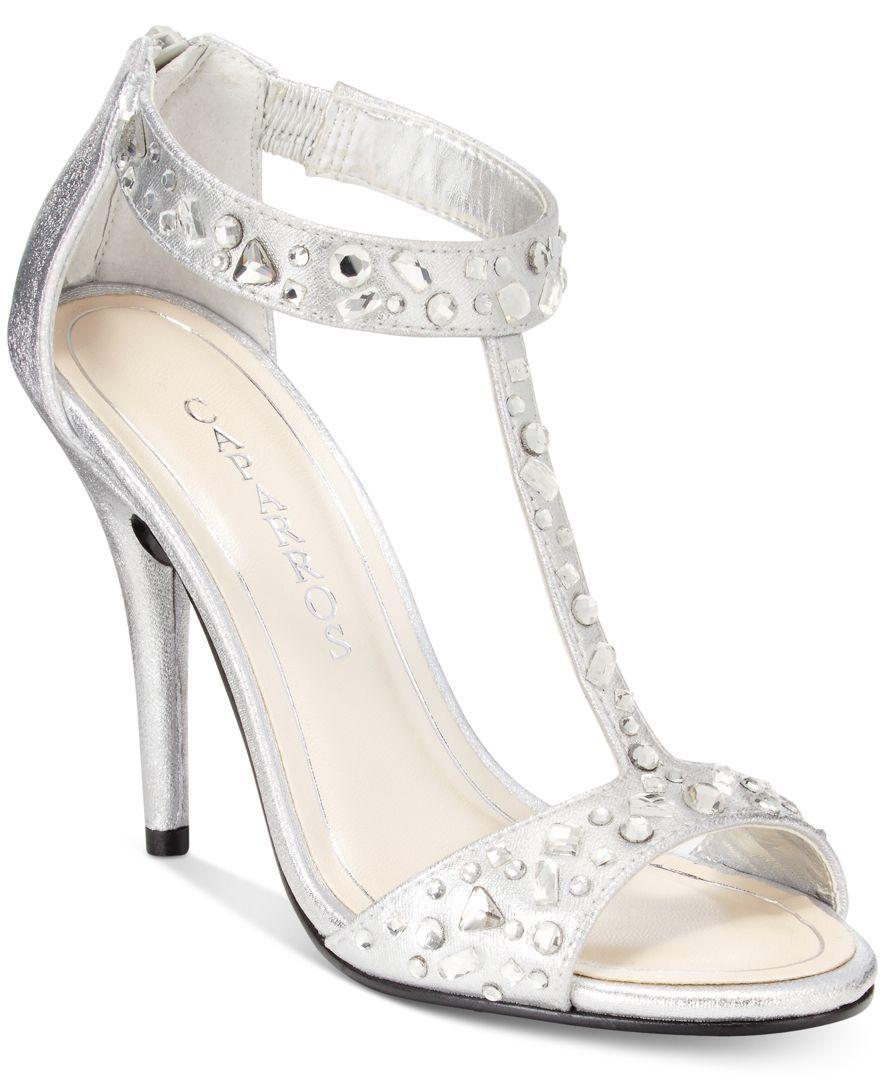 c54320d3f47 Caparros Esther T-Strap Evening Sandals