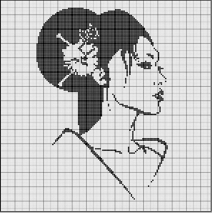 Картинки крестом схемы черно-белые