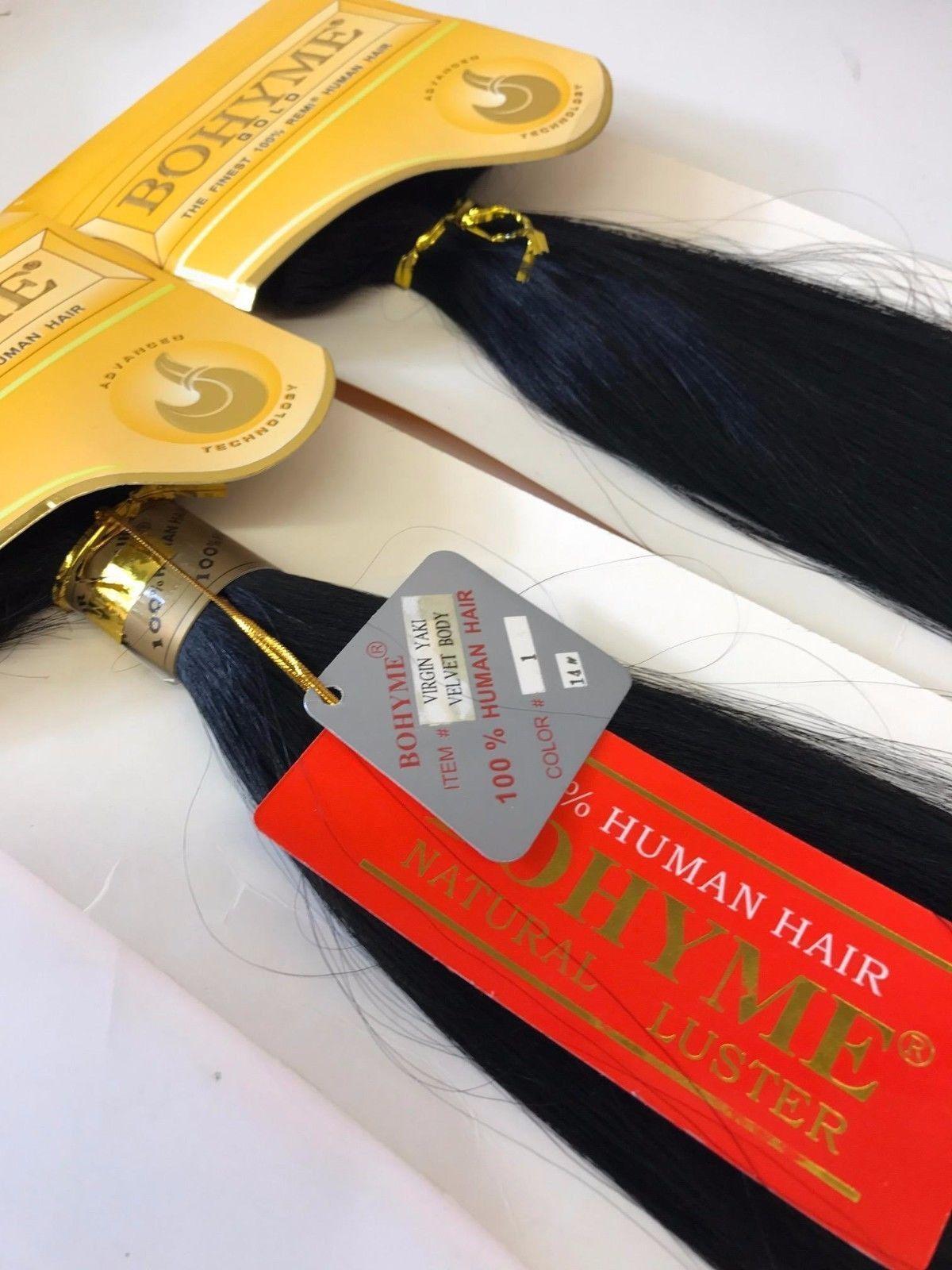 Bohyme Gold Virgin Yaki Velvet Body 100 Human Remi Hair Extensions
