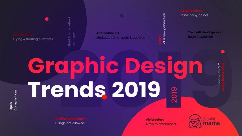 Top Graphic Design Trends 2019 Fresh Hot Bold Graphicmama Graphic Design Trends Design Trends Graphic Design