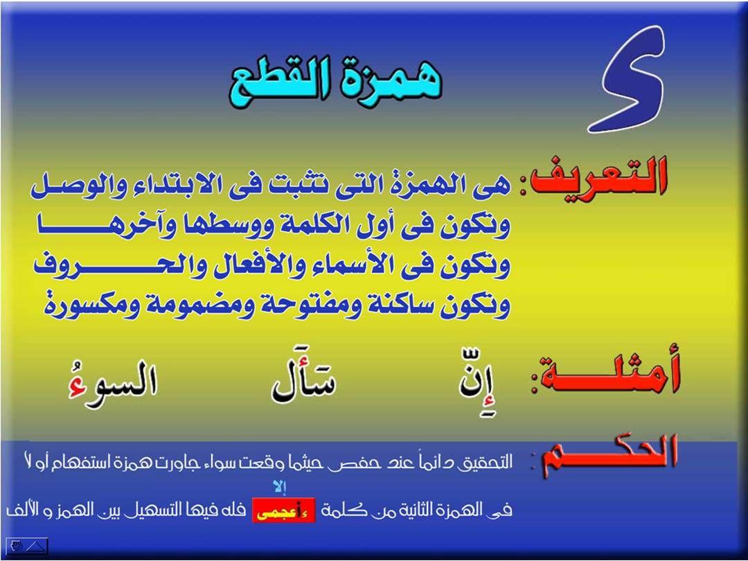 تجويد الكلمة همزة الوصل والقطع Learn Arabic Language Tajweed Quran Learning Arabic