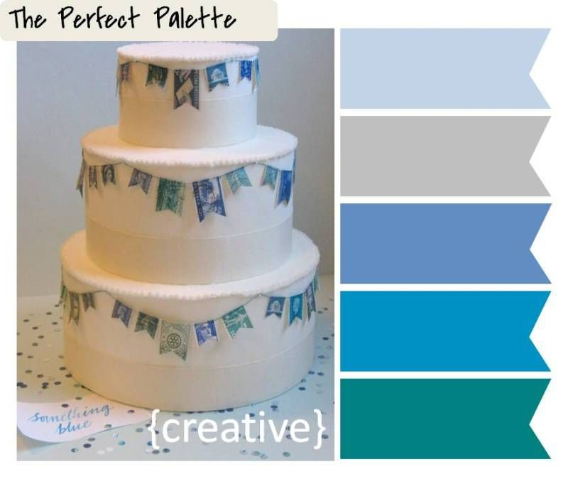 {Creative Color Idea}: Vintage Stamp Bunting ☛ ow.ly/aCfFO