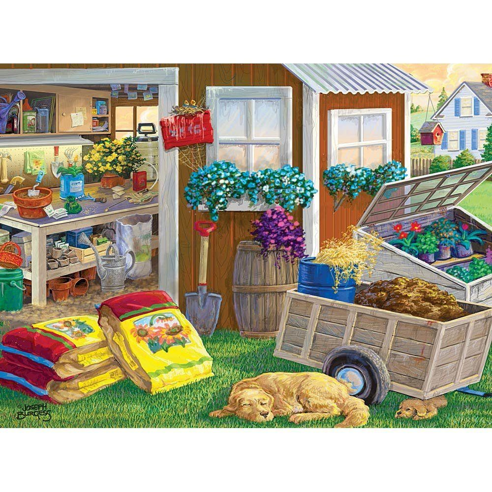 300 Piece Jigsaw Puzzle Summer Planting Shed, Dog and
